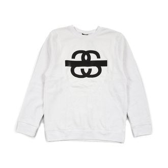 STUSSY SS TAPED CREWNECK WHITE