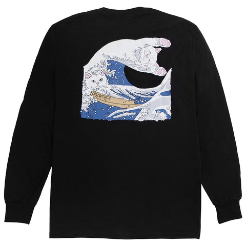 RIPNDIP THE GREAT WAVE OF NERMAL LONGSLEEVE