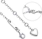 White Swarovski Elements Infinite Pendant Chain Bracelet in 14K White Gold Plating