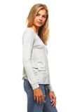 Women's Twist Back Long Sleeve Shirt