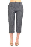 Women's Larry Levine Slim Leg Capri