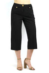 Larry Levine Stretchable Crop Pants