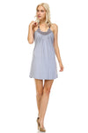 Women's Beaded Neckline Halter Dress