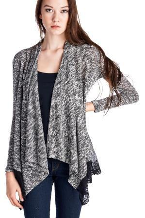 Women's Black & White Cardigan