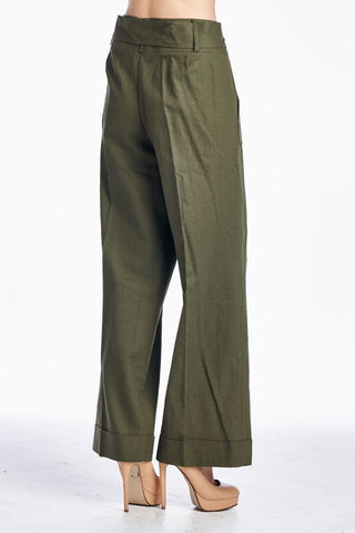 Larry Levine Pant with Waist Tie