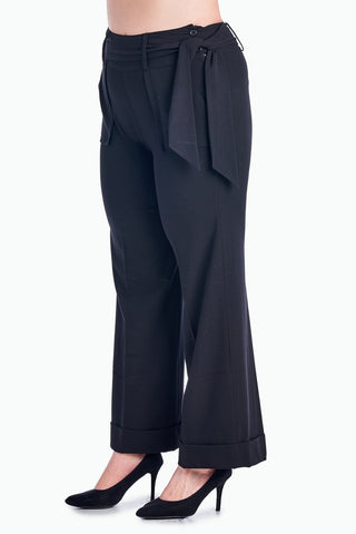 Larry Levine Waist Tie Career Pants