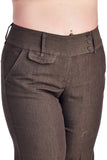 Larry Levine Chocolate Stretch Pant
