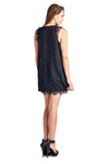Women's Sleeveless Short Dress with Lace Detail