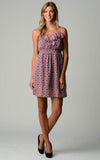 Women's Printed Chiffon Smocked Waist Dress
