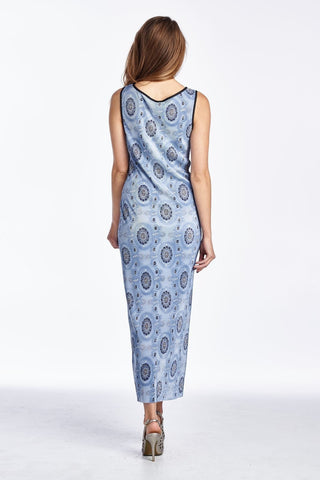 Women's Woven Printed Medallion Maxi Dress