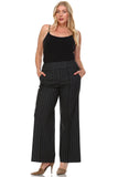 Larry Levine Black/White Pinstripe Pants