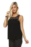 Women's Mixed Stripe Sleeveless Top