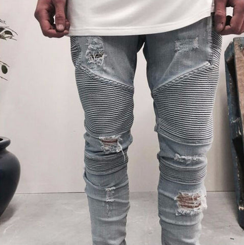 Skinny Ripped Jogger Jeans