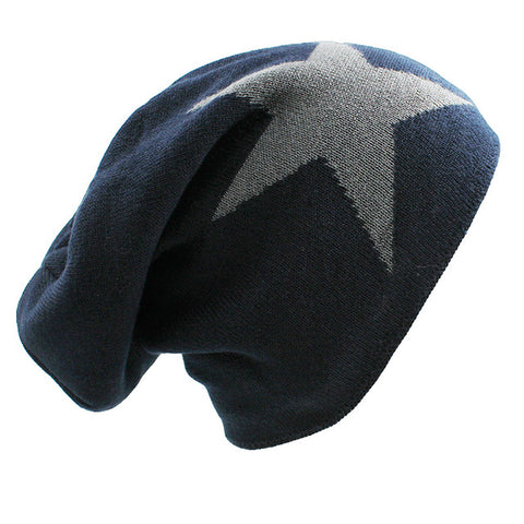 Star Baggy Faux Fur Insulated Knitted Beanies [6 Colors]