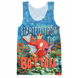 Magikarp Started From The Bottom Print Tank Top