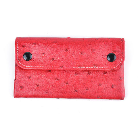 Vegan Leather Ostrich Skin Wallet