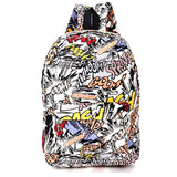 Everyday Canvas Cartoon Graffiti Backpacks