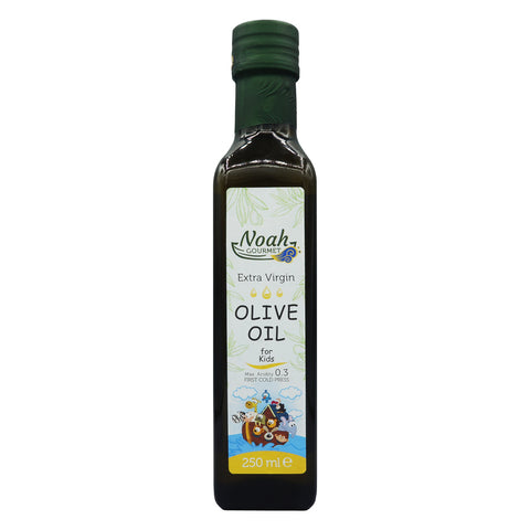 Noah Gourmet 100% Extra Virgin Olive Oil, First Cold Press Extra for Kids Low Acidity (250 ml)