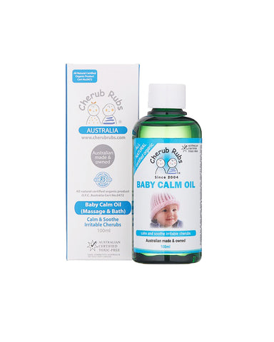 Cherub Rubs Baby Calm Oil (100ml) - Organic Pavilion