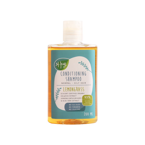 Hug Conditioning Shampoo Lemongrass (200ml) - Organic Pavilion