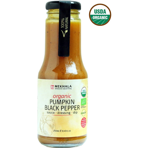 Mekhala Organic Creamy Pumpkin Black Pepper Dressing (250ml)