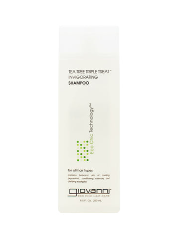 Giovanni Eco Chic® Tea Tree Triple Treat Invigorating Shampoo (8.5 oz) - Organic Pavilion