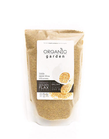 Organic Garden Ground Golden Flax Seed (250gm)