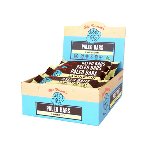 Blue Dinosaur Paleo Bar Lamington (45g x 12 Bars) - Organic Pavilion