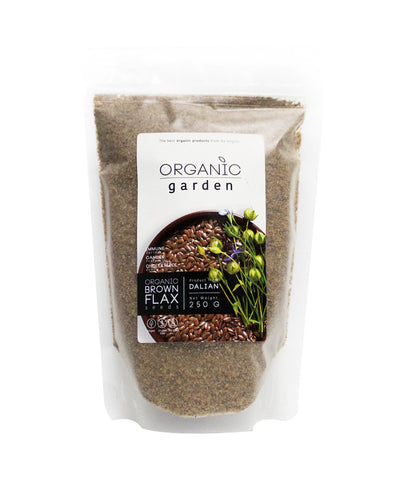 Organic Garden Ground Brown Flax Seed (250gm)