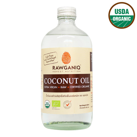 Rawganiq Organic Extra Virgin Coconut Oil, Cold Pressed (450ml)