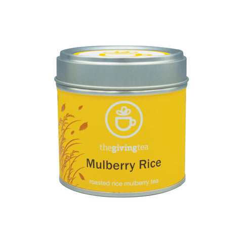 The Giving Tea Mulberry Rice Blended Tea NO CAFFEINE (17.5g / 7 pyramid tea bags) - Organic Pavilion