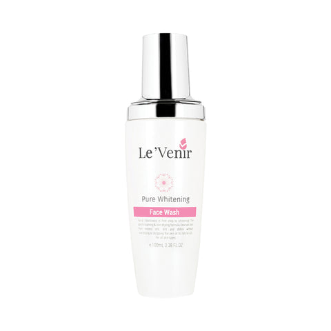 Le'Venir Pure Whitening Face Wash (100ml) - Organic Pavilion