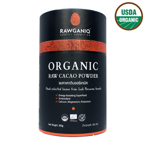 Rawganiq Organic Raw Cacao Powder (300gm)