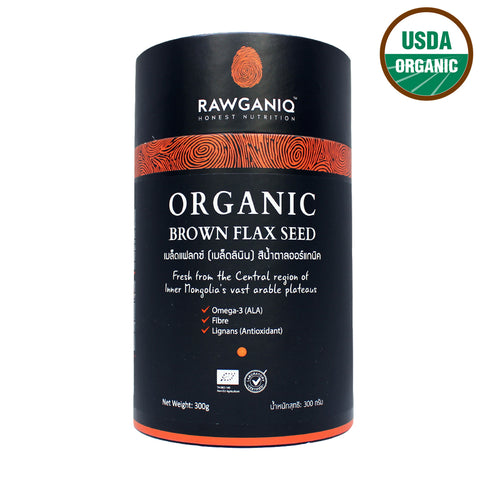 Rawganiq Organic Brown Flax Seed (300gm)