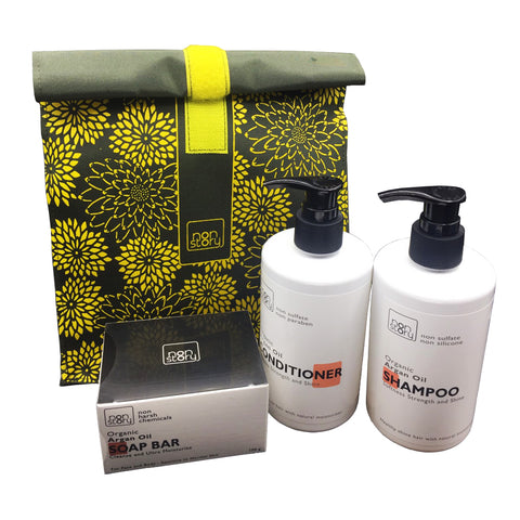 Non Story Set Argan Oil Soap Bar (100ml) + Argan Oil Shampoo (280ml) + Argan Oil Conditioner (280ml)