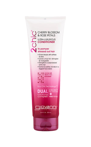 Giovanni 2Chic®Cherry Blossom & Rose Petals Ultra-Luxurious Conditioner (8.5oz) - Organic Pavilion