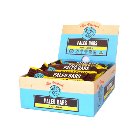 Blue Dinosaur Paleo Bar Mac' Lemon (45g x 12 Bars)