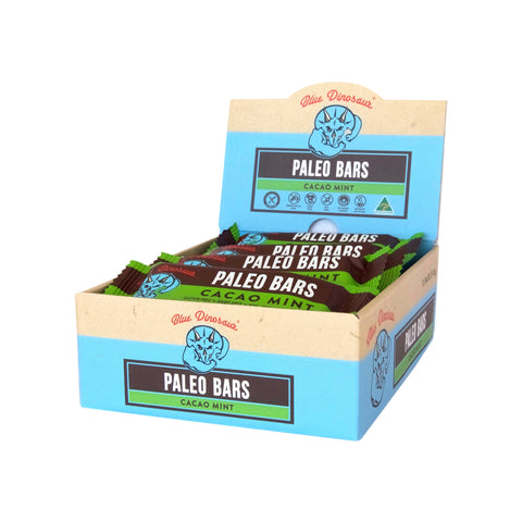 Blue Dinosaur Paleo Bar Cacao Mint (45g x 12 Bars)