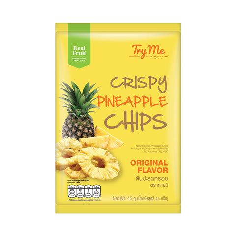Try Me Crispy Pineapple Chips (45g) - Organic Pavilion