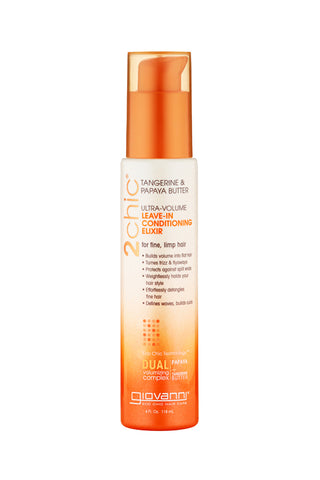Giovanni 2Chic® Tangerine & Papaya Butter Ultra-Volume Leave-in Conditioning & Styling Elixir  (4oz)
