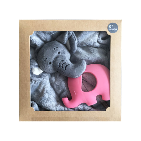 Bamboobubs Doudou + Teether (pink)