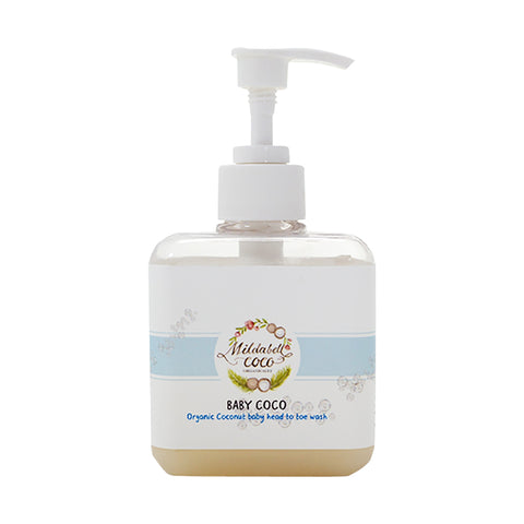 Mildabell Coco BABY COCO Baby Organic Coconut Baby Head to toe wash (250ml) - Organic Pavilion