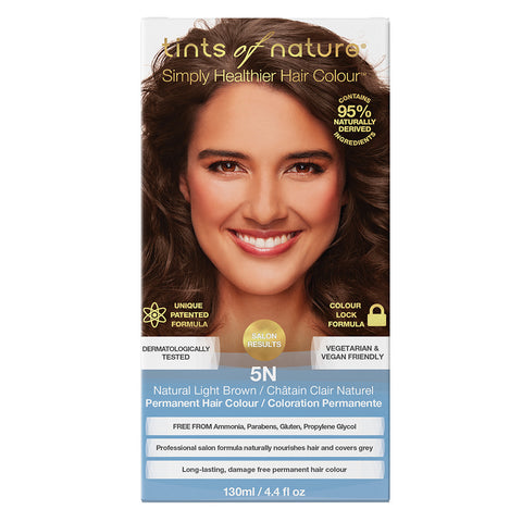 Tints of Nature 5N Natural Light Brown - Permanent Hair Colour (130ml) - Organic Pavilion