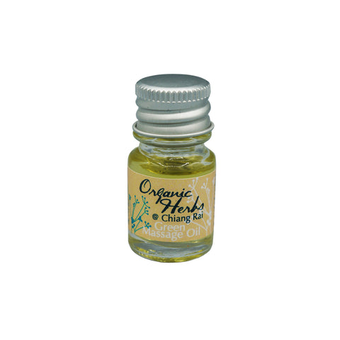 Organic Herbs@Chiangrai Green Massage Oil (5ml) - Organic Pavilion