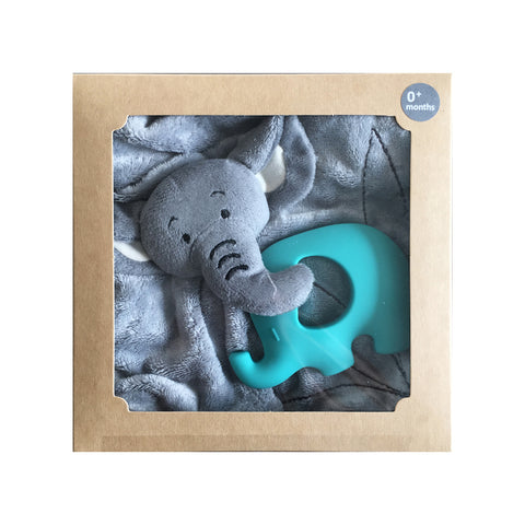 Bamboobubs Doudou + Teether (Aqua)