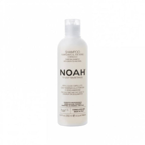 NOAH Purifying shampoo with green tea and basil (250ml) - Organic Pavilion