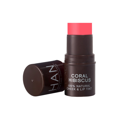 Han Skin Care Cosmetics 100% Natural Cheek & Lip Tint Coral Hibiscus (5.7gm)
