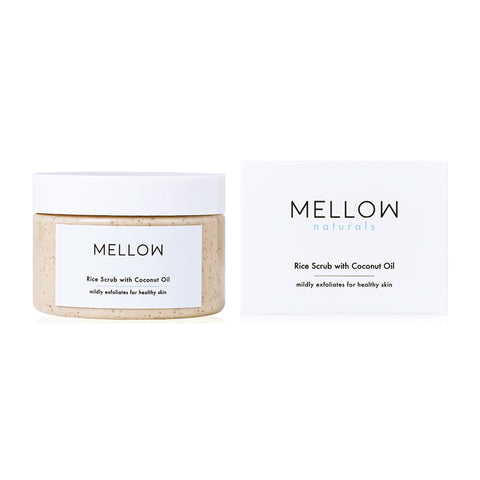 Mellow Naturals Rice Scrub with Coconut Oil (150g)