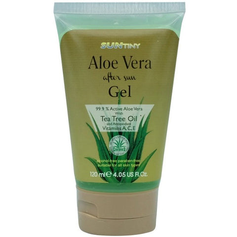Sun Tiny Aloe Vera After Sun Gel with Tea Tree Oil (120ml) - Organic Pavilion