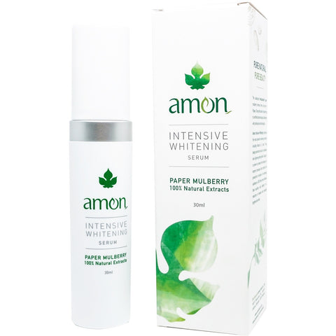 Amon Intensive Whitening Serum Paper Mulberry 100% Natural Extract (30ml) - Organic Pavilion